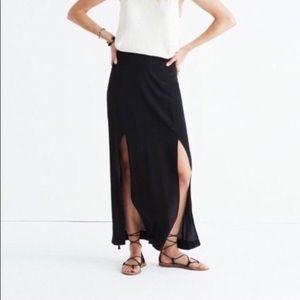 Black silk maxi skirt from Madewell